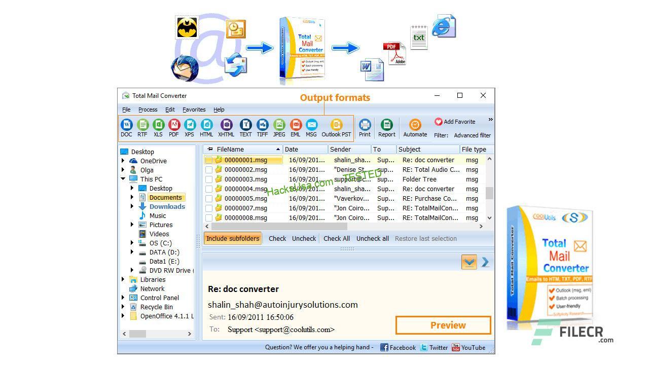 Coolutils Total Mail Converter Pro 6.1.0.122 - FileCR