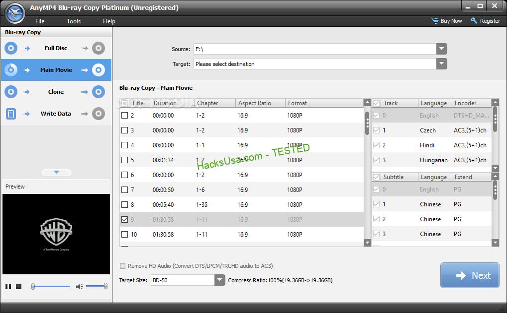 AnyMP4 Blu-ray Copy Platinum Crack Free v7.2