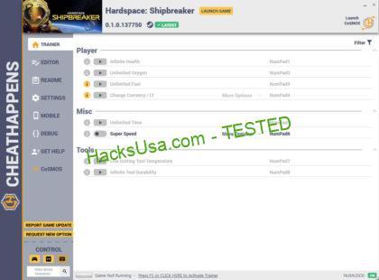 Hardspace: Shipbreaker Trainer Unlimited Oxygen +10