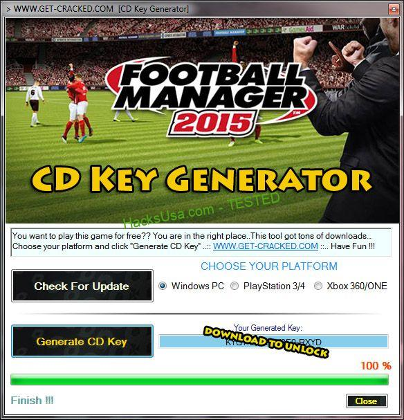 Football Manager 2015 generator keys