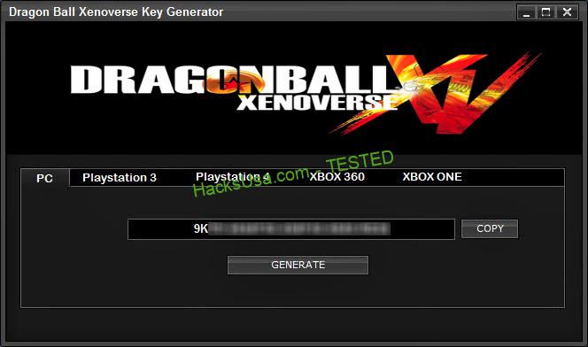 Dragon Ball XV Key Generator PS4 Key Generator