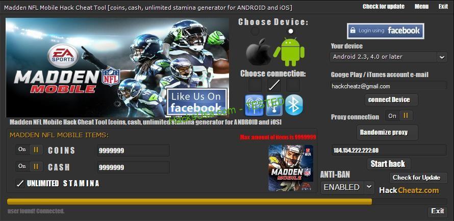 Madden NFL Mobile Hack Coins Add Unlimited Cash