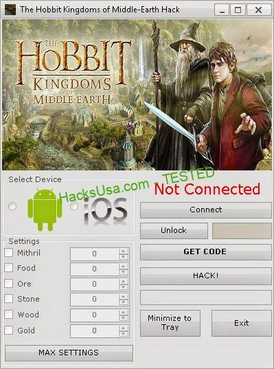 The Hobbit Kingdoms of Middle Earth Hack Tool Free Download ...