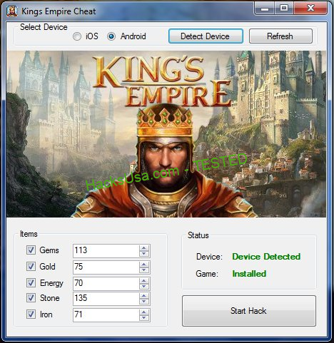 King's Empire Hack Gems Add Unlimited Gold
