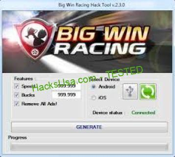 Big Win Racing Hack Bucks Add Unlimited Speed