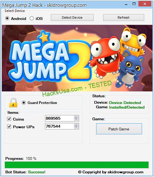 Mega Jump 2 Hack Coins Add Unlimited Diamonds