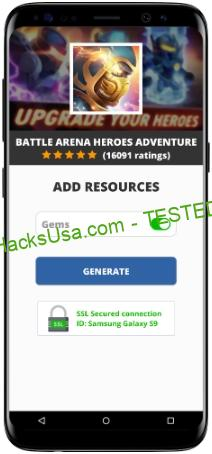Battle Arena Heroes Adventure MOD APK Unlimited Gems