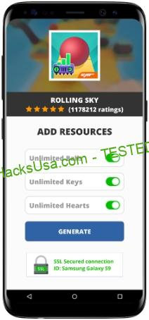 Rolling Sky MOD APK Unlimited Balls Keys Hearts