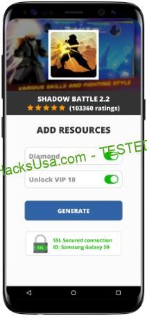 Shadow Battle 2.2 MOD APK Unlimited Diamond Unlock VIP 10