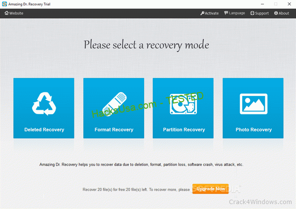 Amazing Dr. Recovery 15.8 Crack + Activator