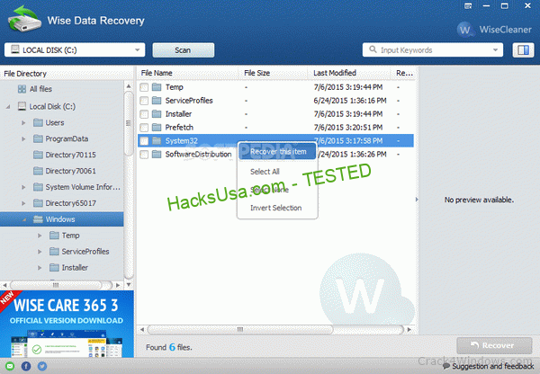 Portable Wise Data Recovery 5.1 Crack Plus Serial Number
