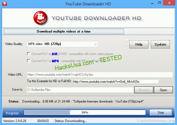 Portable Youtube Downloader HD 2.9 Crack + Serial Key