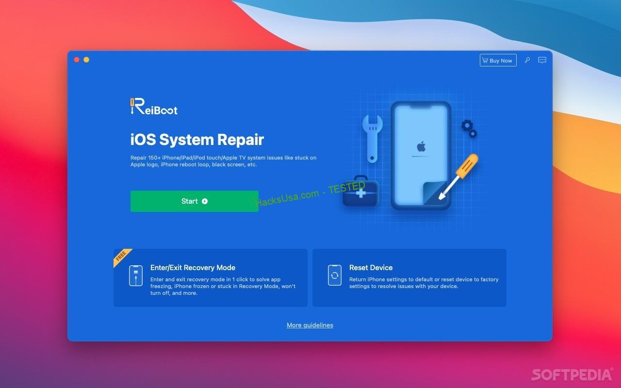 Tenorshare ReiBoot for Mac cracked 2